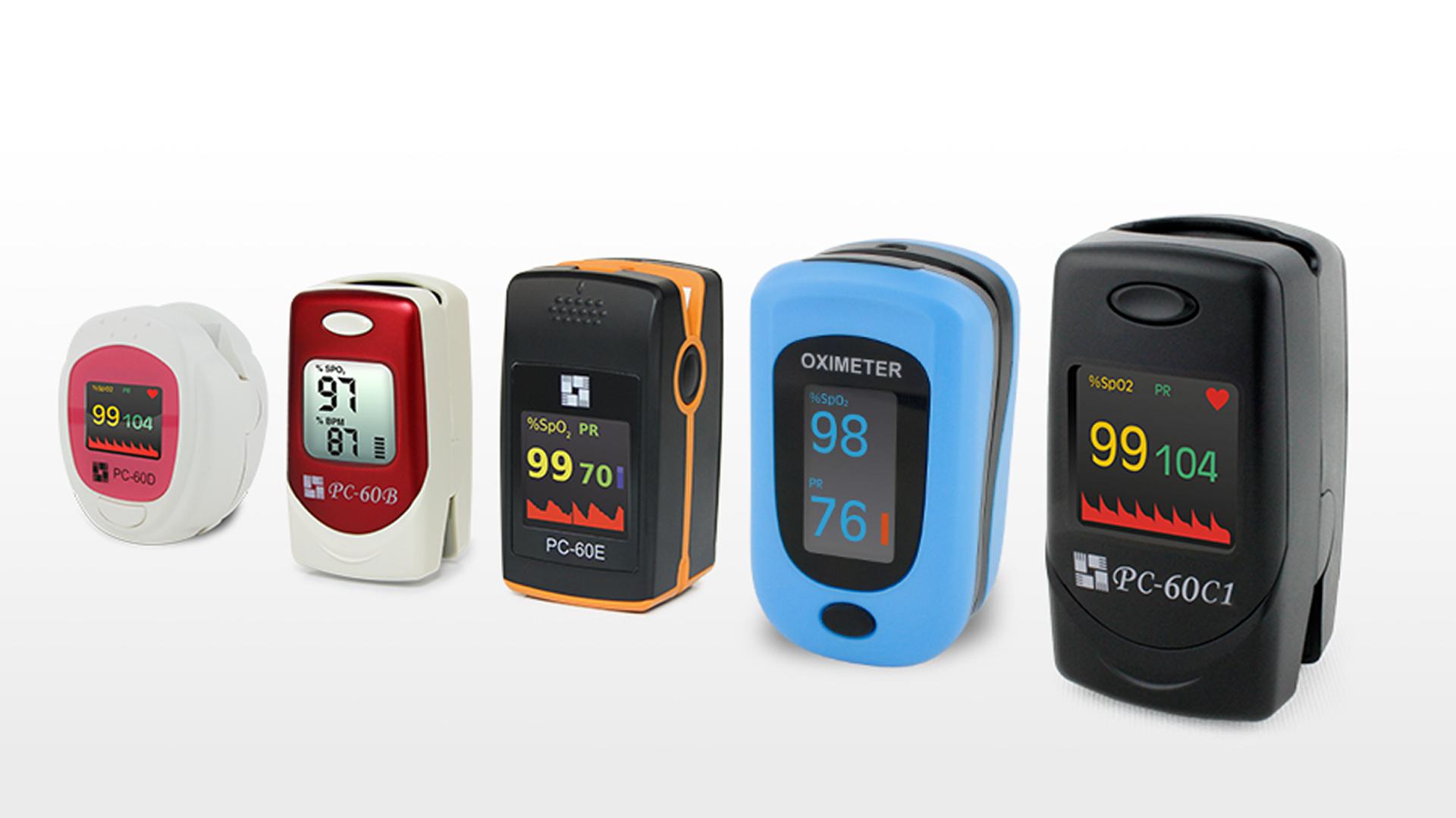 Produktbilder von verschiedenen Pulsoximetern