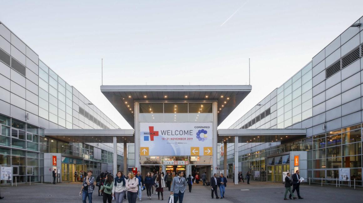 Eingang Messegelände MEDICA, Düsseldorf